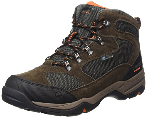 Hi-Tec Storm Waterproof, Herren Trekking- & Wanderstiefel, Braun (Dk Chocolate/dt Taupe/burnt Orange), 43 EU