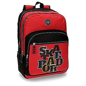 51Ra0%2BgI8jL. SS300  - Movom Skateboard Mochila Escolar, 44 cm, 26.14 litros, Azul