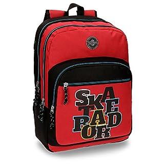 Movom 5222462 Skateboard Mochila Escolar, 44 cm, 26.14 litros, Rojo