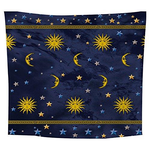 Lumanuby 1x Sol Luna Pared Adornos Estrella Azul