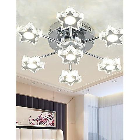 Jiaily LED di illuminazione della lampada di cristallo Soggiorno Stella Lampada Bedroom lampada LED lampada da soffitto , bianco-90-240v