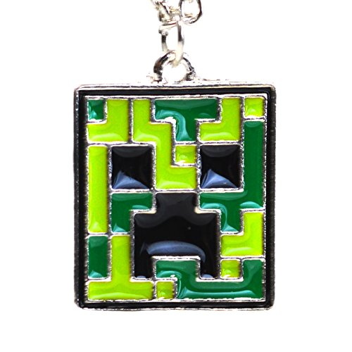 Beaux Bijoux Minecraft Creeper Anhänger-Video Spiele inspiriert quadratisch Halskette