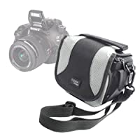 DURAGADGET Portable Camera Case With Padded Interior, Multiple Pockets And Shoulder Strap For Sony DSC-HX400VB.CE3 / DSC-H400 Compact / DSC-H300 SLR Camera