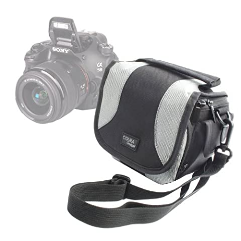 DURAGADGET Portable Camera Case With Padded Interior, Multiple Pockets And Shoulder Strap For Sony DSC-HX400VB.CE3 / DSC-H400 Compact / DSC-H300 SLR