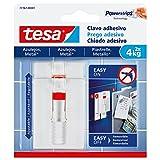 TESA 77767-00001-00 Clavo adhesivo ajustable para azulejos y metal 4 kg, Set de 2 Piezas