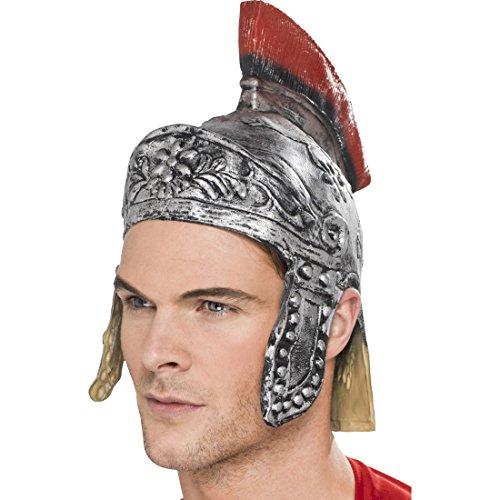 Kostüme Nette Krieger (Römer Helm Gummi silber Römerhelm Gladiatorenhelm Gummihelm römische Kopfbedeckung Gladiatorhelm)