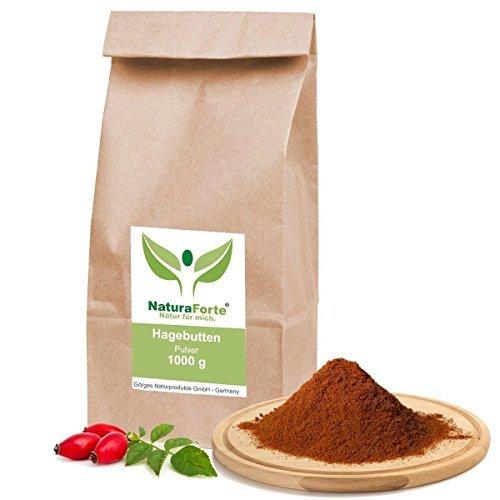 NaturaForte 1kg Hagebuttenpulver naturrein glutenfrei