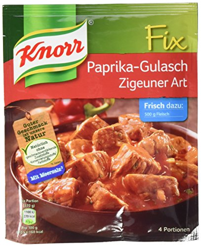 Preisvergleich Produktbild Knorr Fix Paprika Gulasch Zigeuner 4 Portionen (10 x 52 g)