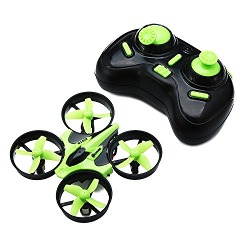 trecce EACHINE E010 Drones para Niños 2.4G 4Canales 6 Ejes con Mando Radio Control, Modo sin Cabeza y Giros 360 (Verde)