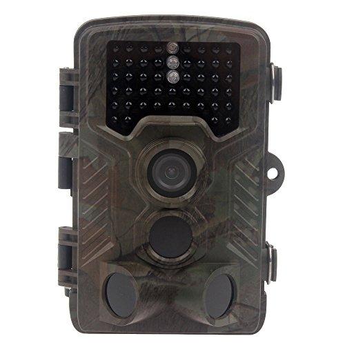 YMXLJJ Jagd Wildlife Kamera 1080P 12Mp HD 2,4 Zoll Bildschirm IR LED Infrarot Nachtsicht 20M PIR Bewegungserkennung Spiel Track Cam 0,6S Trigger Time Camouflage (Stealth Cam)