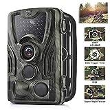 Micoke Caméra de Chasse 16MP 1080P HD avec 3 Capteurs de 36 IR Capteurs à LED...