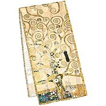 """VON LILIENFELD Bufanda de seda motivo del arte Gustav Klimt: """"Árbol de la vida"""""""