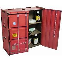Werkhaus - Wandschränkchen Medizinschrank in Container-Optik, Rot, 37x37x15cm (CO1802) preisvergleich bei billige-tabletten.eu