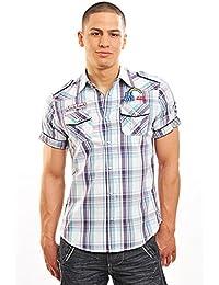 GANGSTER uNIT chemise manches courtes à carreaux taille s-l aV couleur au choix.