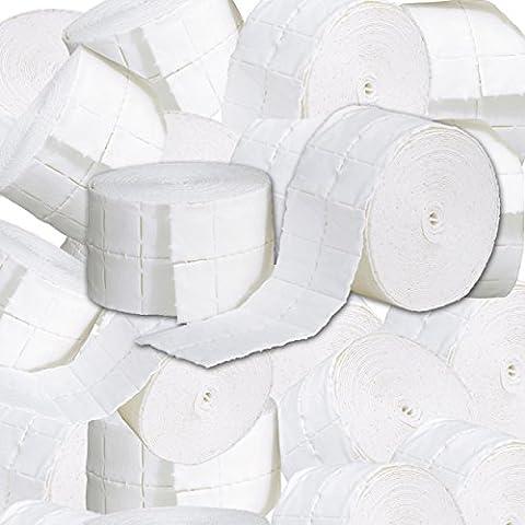 12 rotoli pad cellulosa pretagliata per ricostruzione unghie 6.000 pz