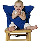 Baby Chair Booster Infantil Portátil Alimentación Cinturón de Seguridad Silla Alta Carrier Azul oscuro