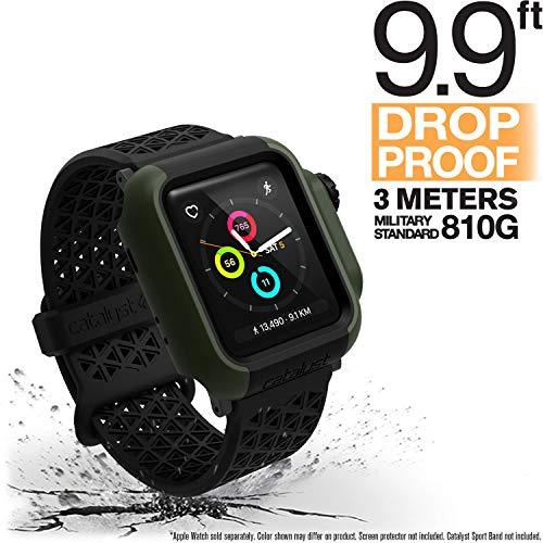 Catalyst Hülle 38mm für Apple Watch Serie 3 & 2 - Fall und Stoßfest - Aufprallschutz für Apple Watch Hülle [Robuste iWatch Schutzhülle], Armeegrün