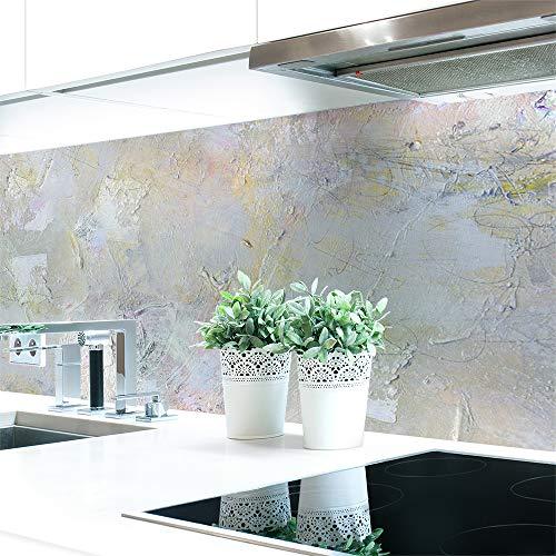 Küchenrückwand Malerei Abstrakt Premium Hart-PVC 0,4 mm selbstklebend - Direkt auf die Fliesen, Größe:Materialprobe A4