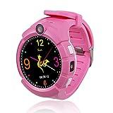 Enjoyall Kinderuhr, Smart Watch mit GPS-Tracker Armbanduhr mit Anti-verlorenen Alarm, Kamera, Taschenlampe, SOS-Armbanduhr Kindersicherung Smartphone für Jungen Mädchen