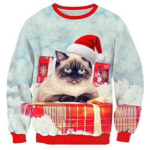 achten Pullover Hässliche Weihnachtspullover Ugly Christmas Sweaters 3D Weihnachten Sweatshirts ()