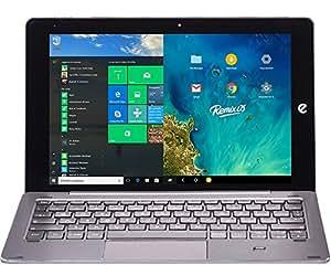 'e-tab Pro WiFi Tablet PC-Gaming, 10.1Bildschirm, Intel Atom z8350, Ram 4GB, eMMC 64MB, Intel HD Graphics 400, silber Layout [Italienisch]