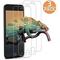 [3-Unidades] Protector de Pantalla para iPhone 8 / 7 / 6s / 6, GantPower Protector Cristal Vidrio Templado para iPhone 8 / 7 / 6s / 6(4.7 Pulgadas),3D Touch Compatibles -Transparente