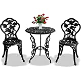 Centurion Supports TABRIZ Garden & Patio Table & 2 Chairs Cast Aluminium Bistro Set