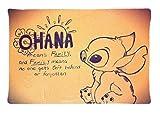 tancat Lilo & Stitch Ohana means family Custom Kissenbezug