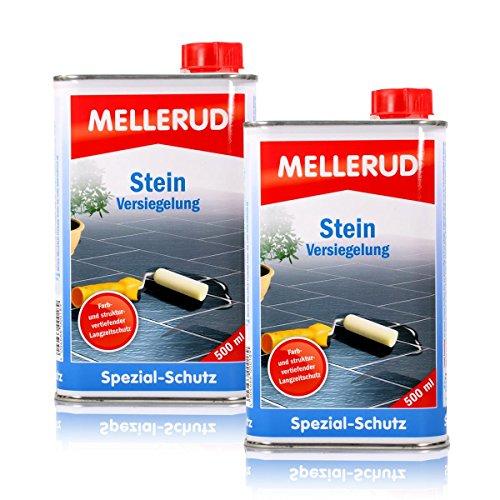 2x Mellerud Stein Versiegelung 500 ml - Farbloser und wasserfester Langzeitschutz