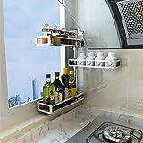 Edelstahl Regale 304 Edelstahl Eck Racks können gedreht werden kreative Gewürz Regal Wand hängenden Würze Sauce Lagerregale ( Farbe : B )