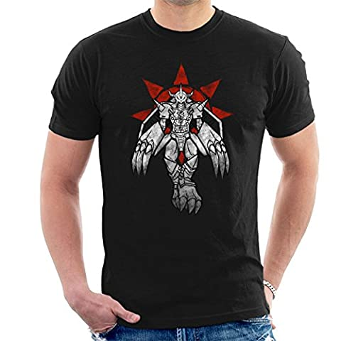 Digimon Wargreymon Grafitti Crest Of Courage Men's T-Shirt