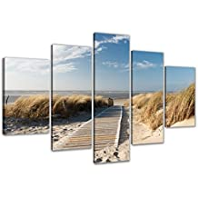 200 x 100 cm cuadro en lienzo playa 6310-SCT – imagen / impresion / pintura listo para colgar