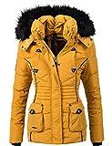 Marikoo Damen Jacke Winterjacke Steppjacke Vanilla (vegan hergestellt) Gelb Gr. S