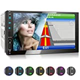 XOMAX XM-2VN751 Autoradio mit Mirrorlink, GPS Navigation, Navi Software, Bluetooth Freisprecheinrichtung, 7 Zoll / 18cm Touchscreen Bildschirm, FM Tuner, SD, USB, 2 DIN