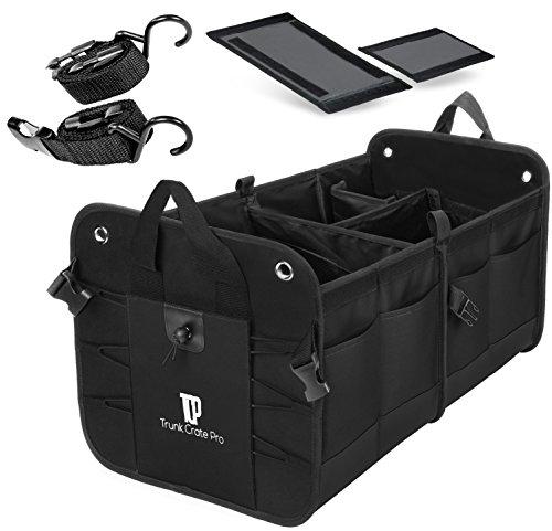 trunkcratepro Premium Multi Fächer zusammenklappen tragbar Kofferraum Organizer für Auto, SUV, Truck, Minibus (Akkordeon-korb)