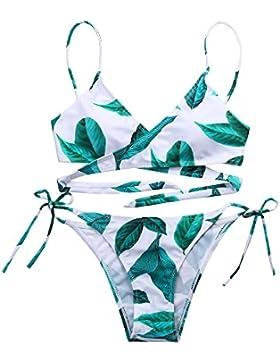 Logobeing Bikinis Mujer, 2018 Mujer Traje de Baño Playa Natación Conjunto de Bikini Con Vendaje y Sujetador Acolchado...