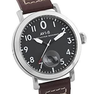 AVI-8 AV-4020-01 - Reloj de cuarzo para hombre, correa de cuero color marrón de AVI-8