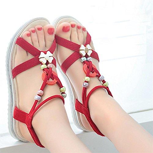 pengweiSandali piani estate scarpe da spiaggia romane antisdrucciolevoli 2