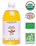 500 ml BIO Arganöl 100% Rein Kaltgepresst mit Öko-Zertifikat ECOCERT für Haut & Haar - Das Original aus Marokko