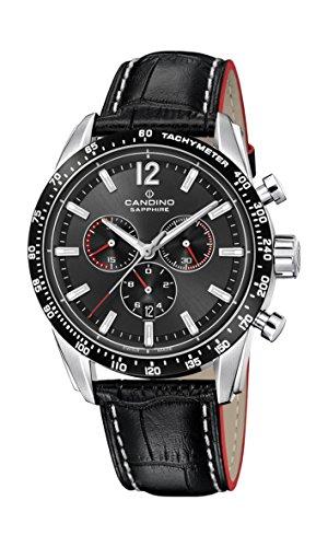 Candino Reloj Cronógrafo para Hombre de Cuarzo con Correa en Cuero C4681/2