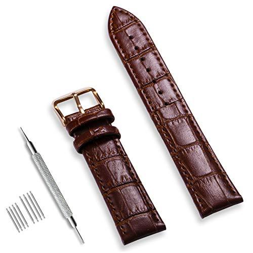 CIVO Uhrenarmband Echtes Leder Armband Top Kalbsleder 16mm 18mm 19mm 20mm 22mm 24mm Uhrband für Herren Damen (Leder Uhrenarmbänder Für Männer)