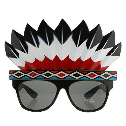 Prettyia Halloween Party Brille Eyewear Neues Jahr Party Kostüm - Indian Native American, 13 x 16 cm