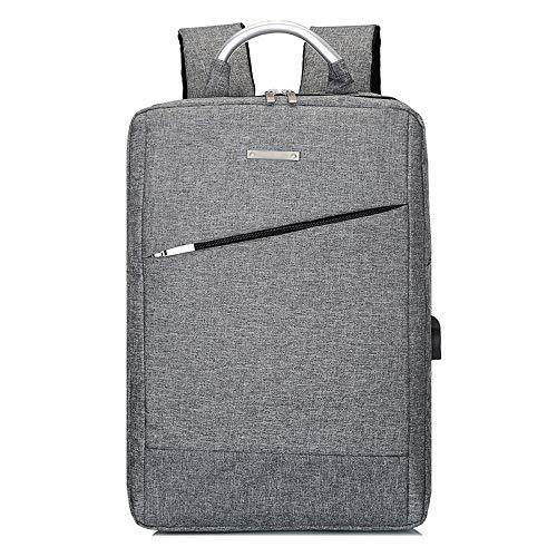 NY-close Laptop-Rucksack, Diebstahlschutz-Rucksack, Business-Computer-Rucksack Großes Fach mit USB-Ladeanschluss für Männer und Frauen, Rucksack für 13-15,6-Zoll-Laptop (Color : Gray) 15,6-zoll-computer
