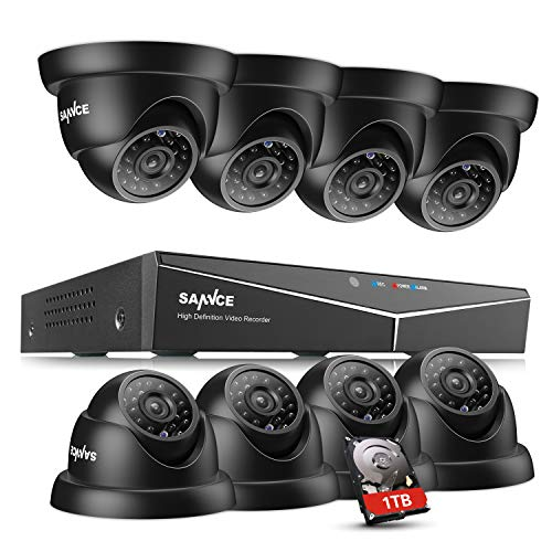 Kit DVR 1080 con 8 cámaras domo