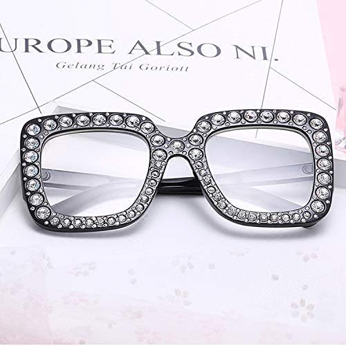 ZHAS High-End-Brille Fashion Women Square Brille New Oversized Vintage Brillengestell Klare Linse Brille Eye Wear Personalisierte High-End-Sonnenbrille