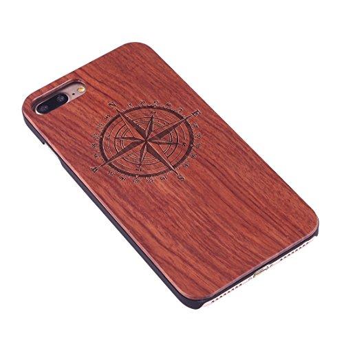 iPhone Case Cover Pour iPhone 7 Plus Sculpture Artistique Rosewood + PC Bordure Étui de protection arrière ( SKU : Ip7p1451x ) Ip7p1451h