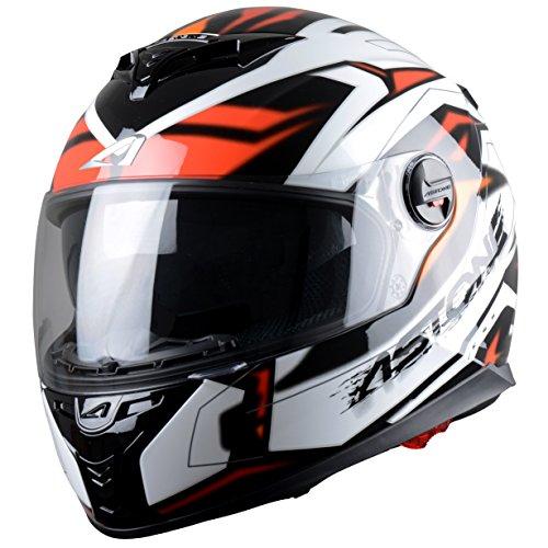 Astone Helmets Futura Casco Integral, Negro/Rojo, M