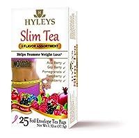 Hyleys - 5 Flavor Assortment 25 Tea Bags 1.32 Oz.