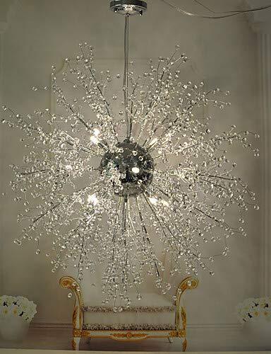 Crystal Globe Lampe/LED-Lampe/inklusive Metall verchromt Kronleuchter/Anhänger LightsLiving Zimmer/Schlafzimmer/Esszimmer, Weiß-220-240v #1483 (Anhänger Globe Crystal)