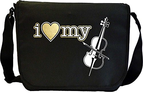 Cello I Love My - Sheet Music Document Bag Musik Notentasche (Dirigent Outfit)